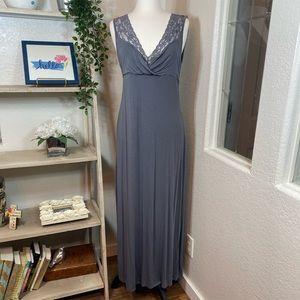 TAHARI gray maxi dress